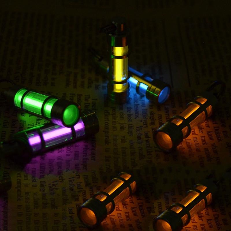 Yupard Automatique Lumière 25 ans Alliage de Titane Tritium Gaz Lampe Clé Anneau de Sauvetage D'urgence Lumières de Sécurité et de Survie