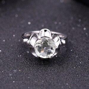 Image 2 - Gems Ballet 2.73Ct Natuurlijke Groene Amethist Engagement Ring Voor Vrouwen 925 Sterling Zilver Gemstone Vinger Ringen Fijne Sieraden