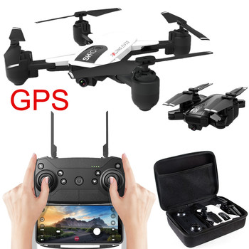 WIFI 720 FPV 18min Mini Drone High Hold Mode Foldable RC Quadcopter Flight Time GPS Flow Me Selfie Drone RC Quadcopter Drone Квадрокоптер