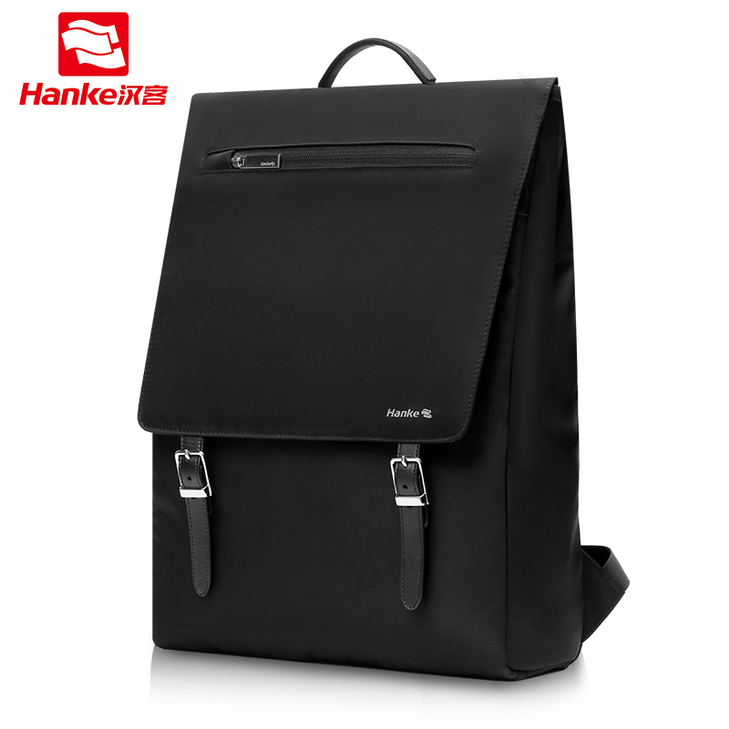 Hanke Laptop Backpack School Male Female Men For Girls RFID Blocking Travel Backpacks Women College Schoolbag With Belts H6813