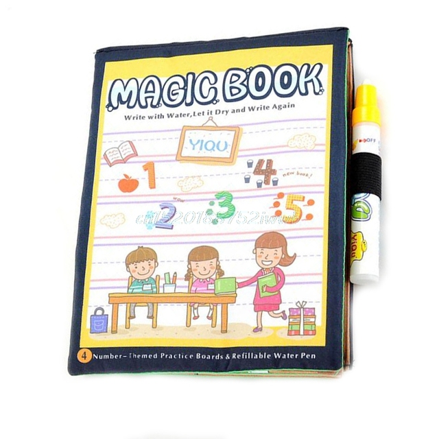 Kids magic paint book with water drawing pen coloring book water painting board t026