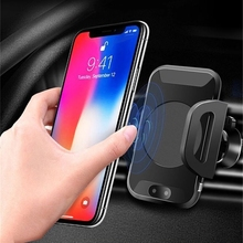 ФОТО xunma infrared sensor automatic fast  wireless charger gps for iphone x 8 plus samsung s9 s8 plus