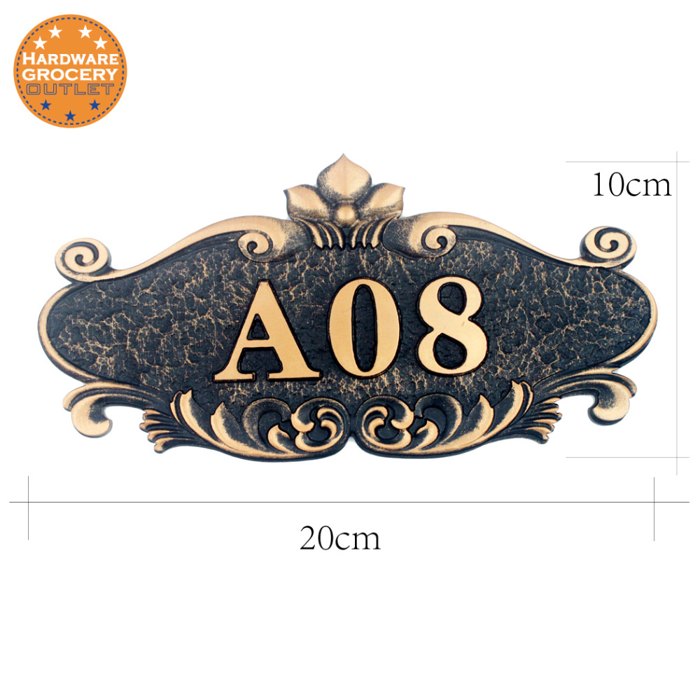 Gate Number Custom-made Apartment Villa door plate House Number European style Door Sign,plates Any Letters, Symbols  HotelGate Number Custom-made Apartment Villa door plate House Number European style Door Sign,plates Any Letters, Symbols  Hotel