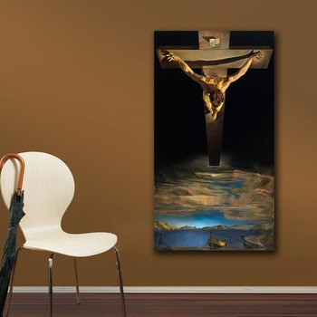 Christ of Saint John of the Cross by Salvador Dali Printed on Canvas 4
