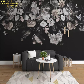 цена на beibehang Custom Wall Mural Wallpaper Painting European Painted Floral Flower Living Room Sofa Bedroom 3D wall papers home decor
