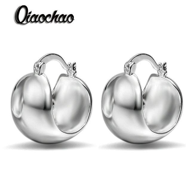 Free Shipping Hot 2016 silver earings Smooth Egg stud brinco joyas E91