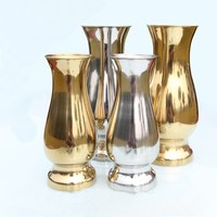 Stainless steel vase floor metal flower office building home hotel shopping mall decoration vase home decoration