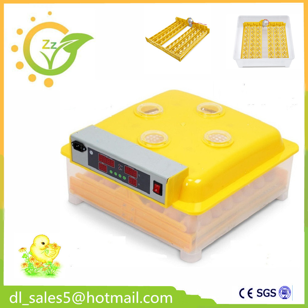 China ZZ48 Fully Hatchery Chicken Automatic Egg Incubators Machine for Duck Pigeon Quail Parrot top sale household farm egg incubators 24 egg incubators for led display turner for sale