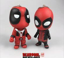 2PCS New 2016 Arrival  movie X-men Deadpool building  Model  toys action figures Pendant  Chaveiro Key Ring gift