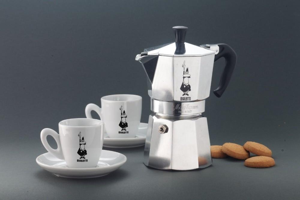 FeiC 1pc bialetti moka pot 4 cups 200ml espresso maker aluminum metal pot for stove for