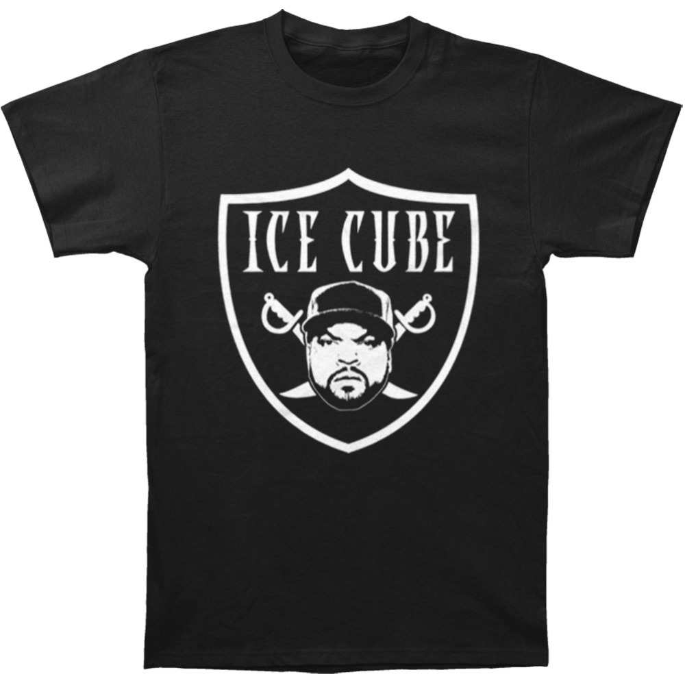 2018 новый летний Для мужчин Лидер продаж Мода Ice Cube Для мужчинs raider футболка Размеры s 3 xlshirt хлопок Высокое качество человек футболка ...