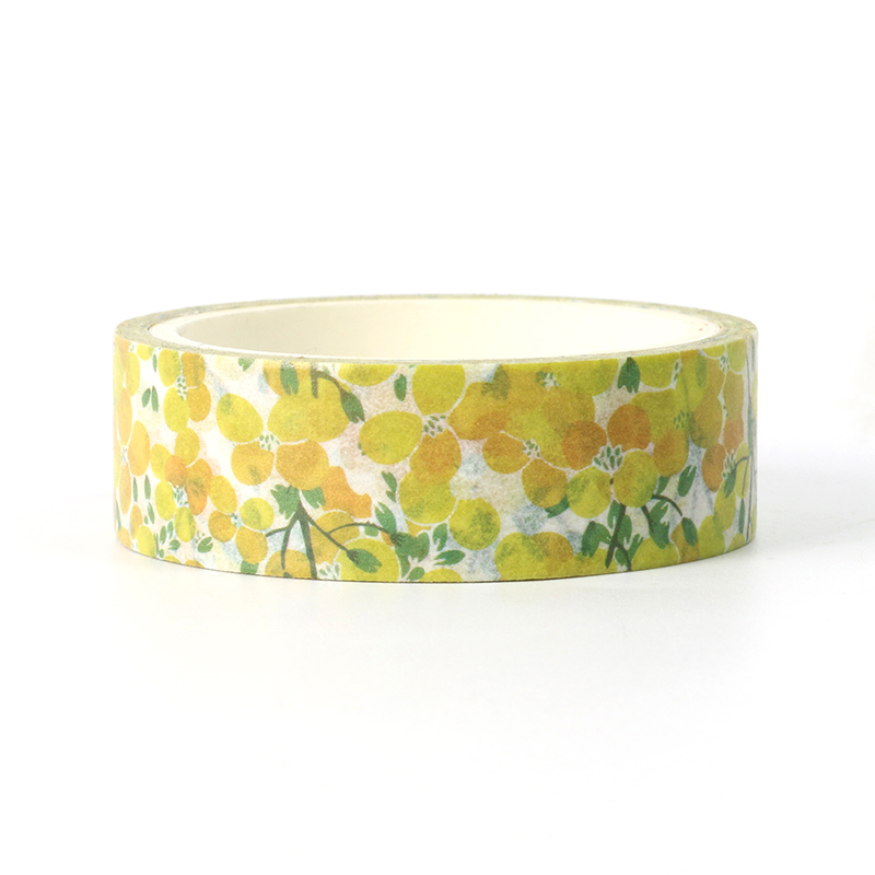 1pcs Cute Beautiful Plant Yellow Leaves Decorative Washi Tape Paper DIY Scrapbooking Masking Tape School Office Supply