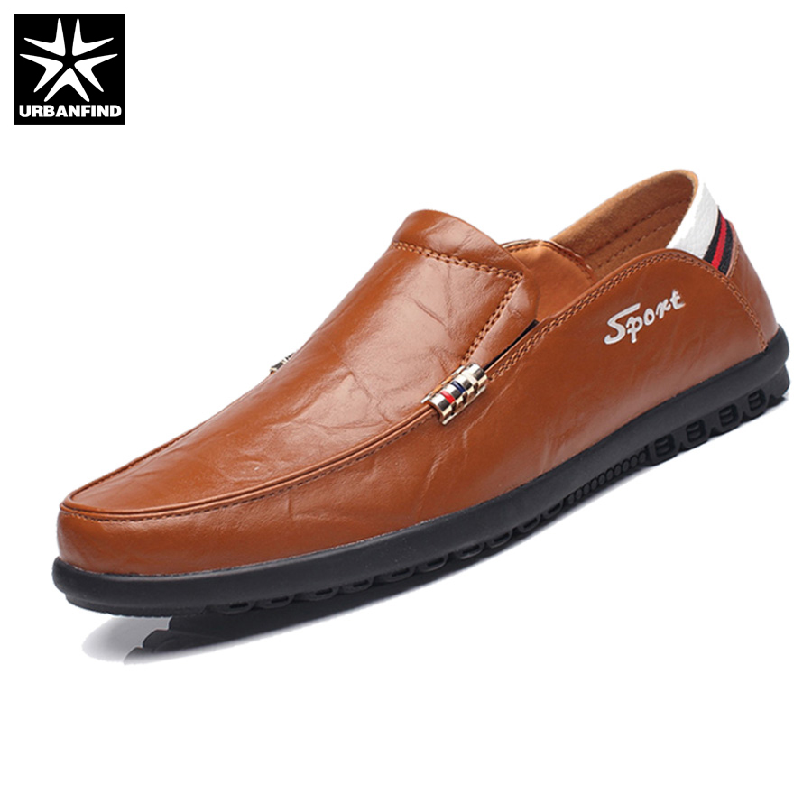Brand Fashion Men Shoes Quality Leather Loafers EU Size 38-44 Soft Rubber Sole Man Casual Driving Shoes good quality leather men flat shoes casual shoes soft men loafers comfortable solid color driving shoes eu 39 44
