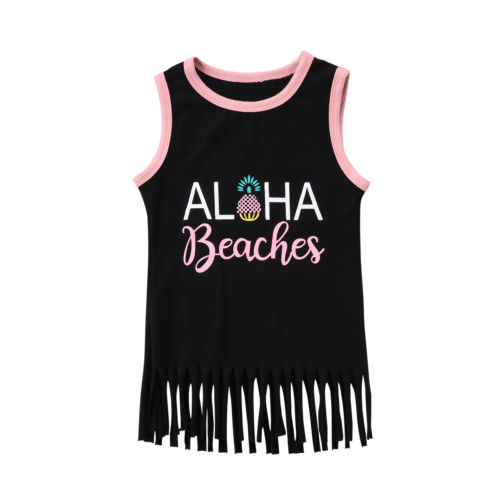 Kids Baby Girls Tassel Tanks Top