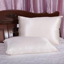 Подушки для сна, шелковые подушки для дышащий охлаждения Гипоаллергенная подушка крышка сбоку и сзади слиперы оптовая продажа 48 см x 74 см