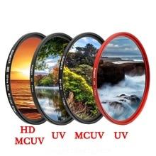 KnightX HD UV MCUV 49 52 55 58 62 67 72 77 MM Camera Lens Filter For canon eos sony nikon 400d 1300d d5600 accessories 200d dslr zomei pro ultra slim mcuv 16 layer multi coated optical glass uv filter for canon nikon hoya sony lens dslr camera accessories