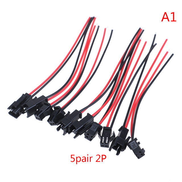 5Pairs SM 2Pin 3Pin 4Pin Male and Female LED Strip Wire Connector 20cm  HF T AE