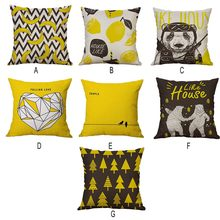 1 piece New chusion Case Banana&tree Design Fashion Pattern Seat hug pillow case Home Chair Throw Pillows Case 40x40cm z0612#G30(China)
