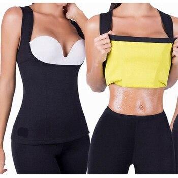 Camiseta deportiva de entrenamiento, camiseta sin mangas de entrenamiento, prendas de neopreno, chalecos adelgazantes S-6XL Mujer