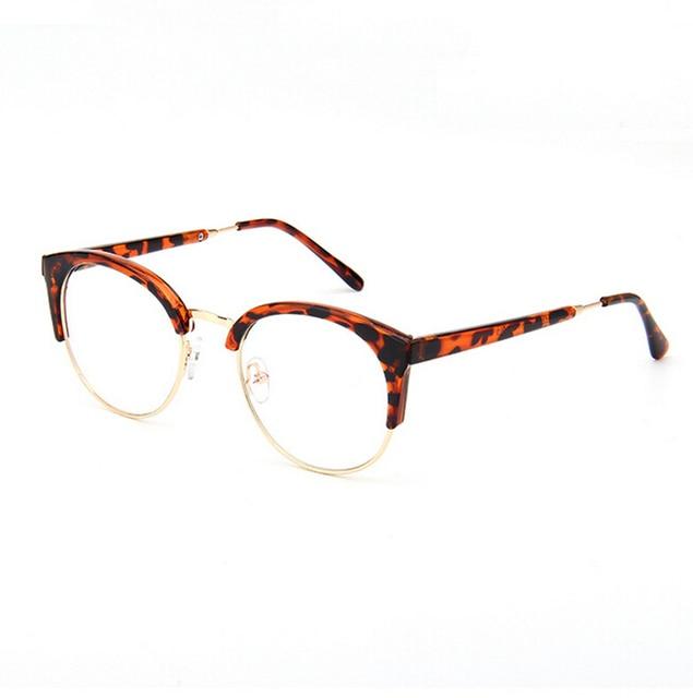 Retro Gato Olho Quadro Óculos de Marca Designer de Moda Mulheres Half Frame  Óculos Homens Frame 3732166d1b