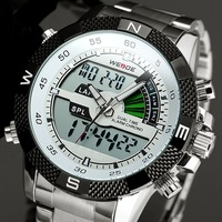 Luxury Brand Weide Watch Men Fashion Male Quartz Business Watches Sports Waterproof Military Stainless Steel Relogio