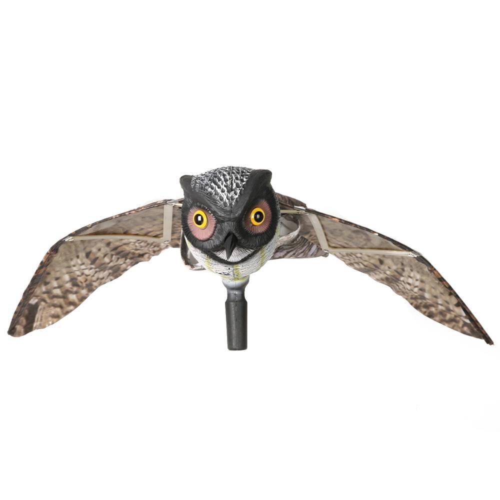 Fake Prowler Owl With Moving Wing Bird Proof Repellent Garden Owl Decoy Pest Scarer Sparrow Bird Scarecrow