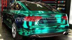 Image 5 - 50CM * 1 M/2 M/3 M/4 M/5 M Rotolo Car styling alta elastico Tiffany blu Chrome Mirror Vinile Wrap Copriletto Rotolo di Pellicola Adesivo Auto
