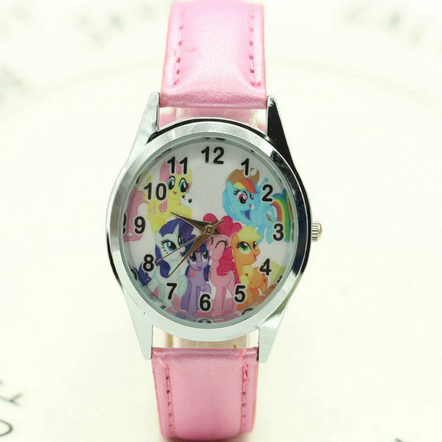 Free Shipping women children pretty pony horse Girl cartoon lovely watch Best fa