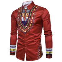 Free Shipping Mens Shirts Pattern Printed Middle East Countries Ethnic Mens Dress Shirts Summer Style Mens Shirts 5 Color S2945