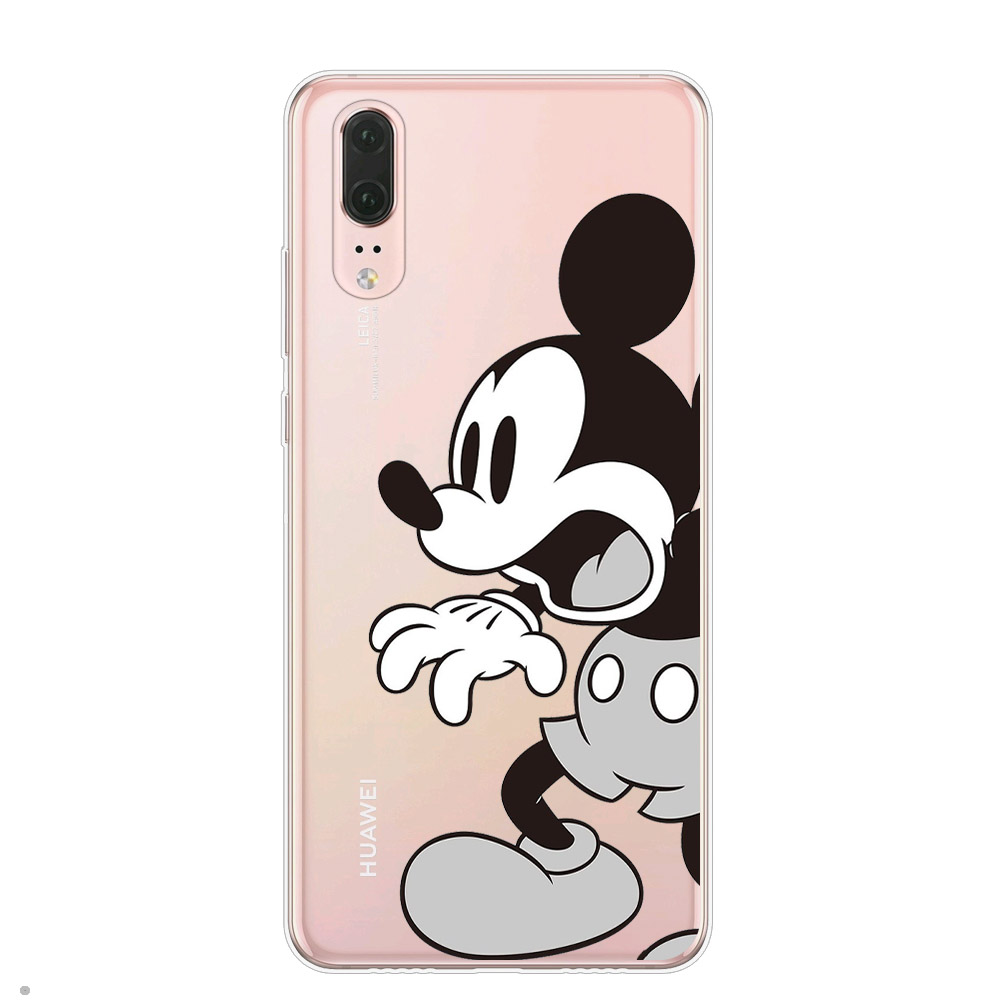 Cartoon Pattern Soft Silicone Case For Coque Hauwei P8 P9 Lite 2017 Back Cover For Huawei P10 P20 P30 Lite Pro Mickey Cat Cases
