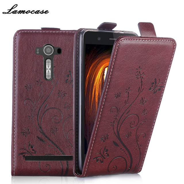 ZE550KL Embossing Case Filp Leather Cover For Asus Zenfone 2 Laser ZE550KL ZE551KL Z00LD 5.5'' Vertical Cover Phone Bags & Cases