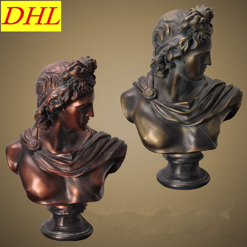 77cm Retro David Bust Figure Michelangelo Buonarroti Venus Statue Gypsum Resin Craftwork Desktop Home Decorations L2186 115cm retro greek mythology venus bust figure aphrodite venus statue gypsum resin craftwork desktop home decorations l2190