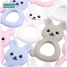 Bopoobo 5pcs Baby Silicone Teethers Bpa Free Food Grade Bunny Chewable For Pacif