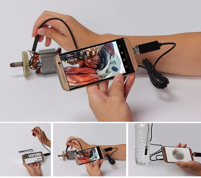 Micro USB Endoscope for Android Phone and PC Stardot 7mm Dia 6LED IP67 Inspection Camera Android Endscope Camera