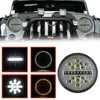 Newest 7 Inch 63W Waterproof Round Modified Auto Car Top LED Light Bars For Off Road