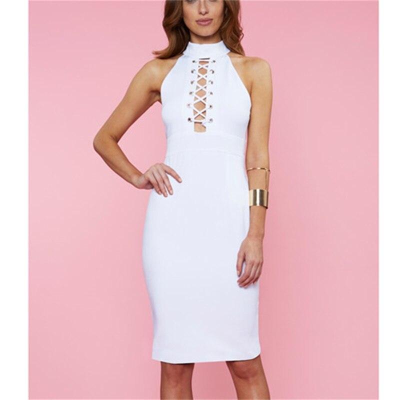 bf70775566a ᗑ2016 новое поступление Для женщин Бандажное платье Длинные рукава ...
