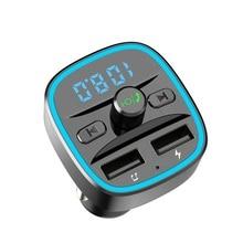 Reproductor de música mp3 para coche Bluetooth 5,0, transmisor de receptor FM, cargador rápido para coche USB Dual, disco U/tarjeta TF, reproductor de música sin pérdidas