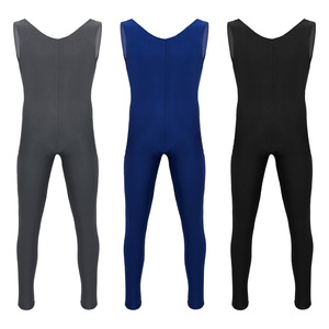 Image 2 - Male Mens Adults Dance Unitard Men Lycra Ballet Tight Jumpsuit Dance Costumes Thongs Bodysuit for Ballet Stage Performance
