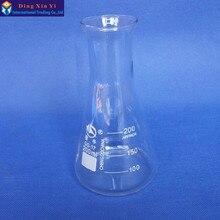 (4 قطعة/الوحدة) 200 ملليلتر الزجاج مخروطي قارورة الزجاج مخروطي قارورة 200 ملليلتر مختبر استخدام الزجاج مثلث قارورة بورو الزجاج ، GG17