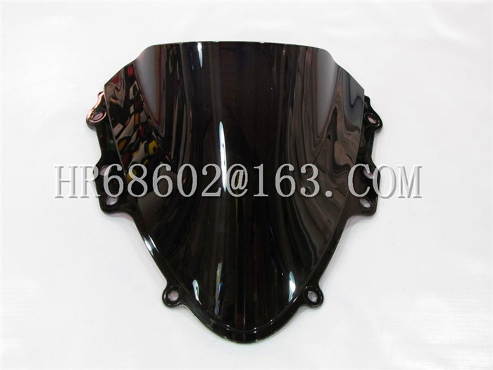 Freeshipping For Suzuki GSXR 600 750 R K4 gsxr 600 750 r k4 2004 2005 04 05 svart vindskjerm vindskjerm dobbel boble