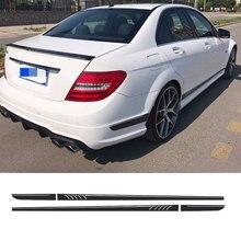 Матовый черный 507 Стиль в полоску Стикеры для Mercedes Benz S204 W204 Coupe c 63 AMG