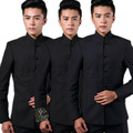 (Jacket And Pants) New Dragon Pattern Man Chinese Tunic Suit Fashion Wedding Mens Suits Brand Clothing