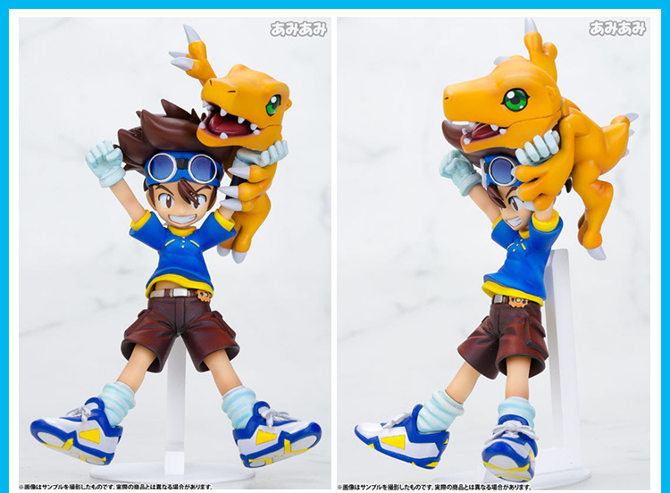 Digimon Adventure Figure Agumon Figure War Greymon TSUNOMON Babumon KabuterimonYAGAMI TAICHI Figure Custom Collection Box