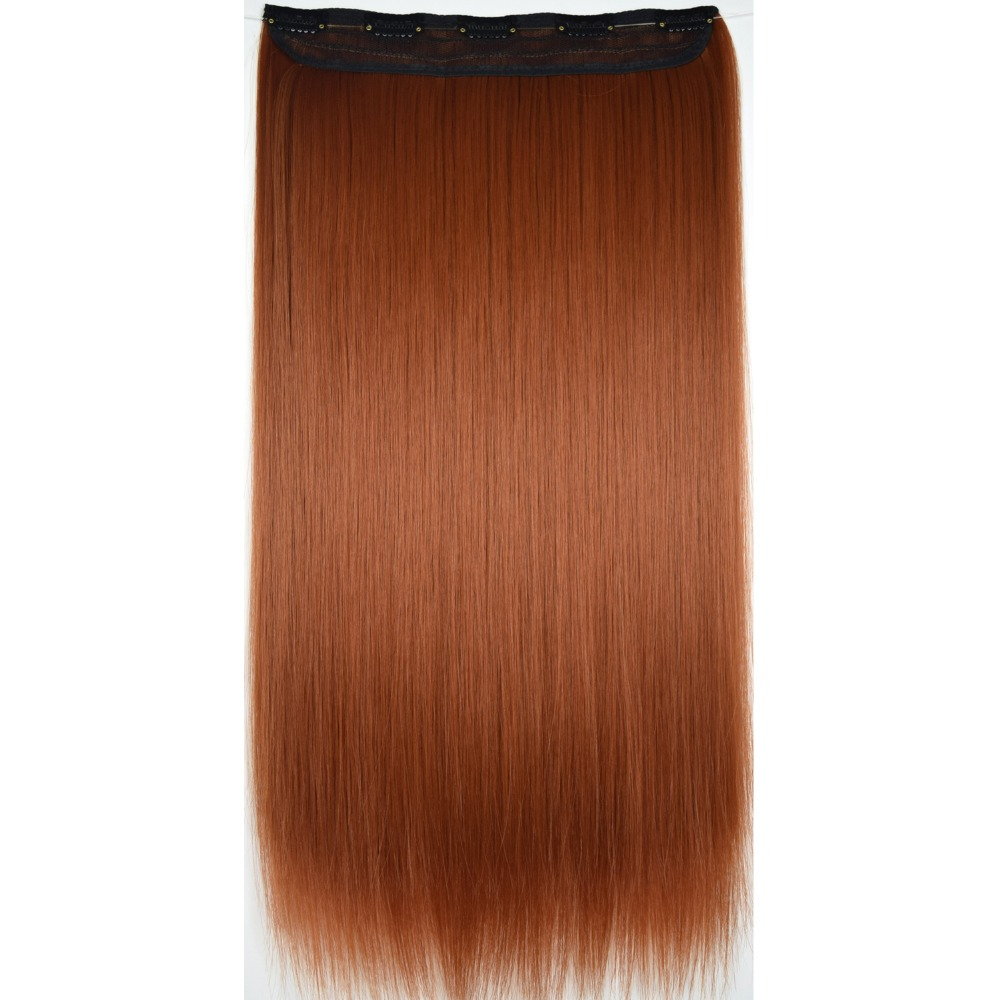 TOPREETY Heat Resistant B5 Synthetic Hair Fiber 130gr Straight 5 Clips On Clip In Hair Extensions 5016