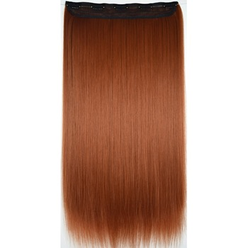 TOPREETY Heat Resistant B5 Synthetic Hair Fiber 130gr Straight 5 Clips on clip in Extensions 5016