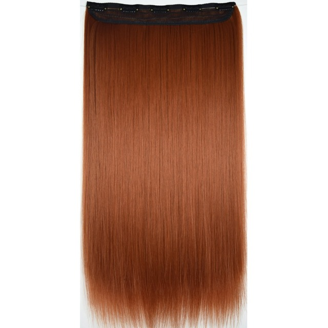 """Special Offers TOPREETY Heat Resistant B5 Synthetic Hair Fiber 28"""" 70cm 130gr Straight 5 Clips on clip in Hair Extensions 30 Colors Available"""