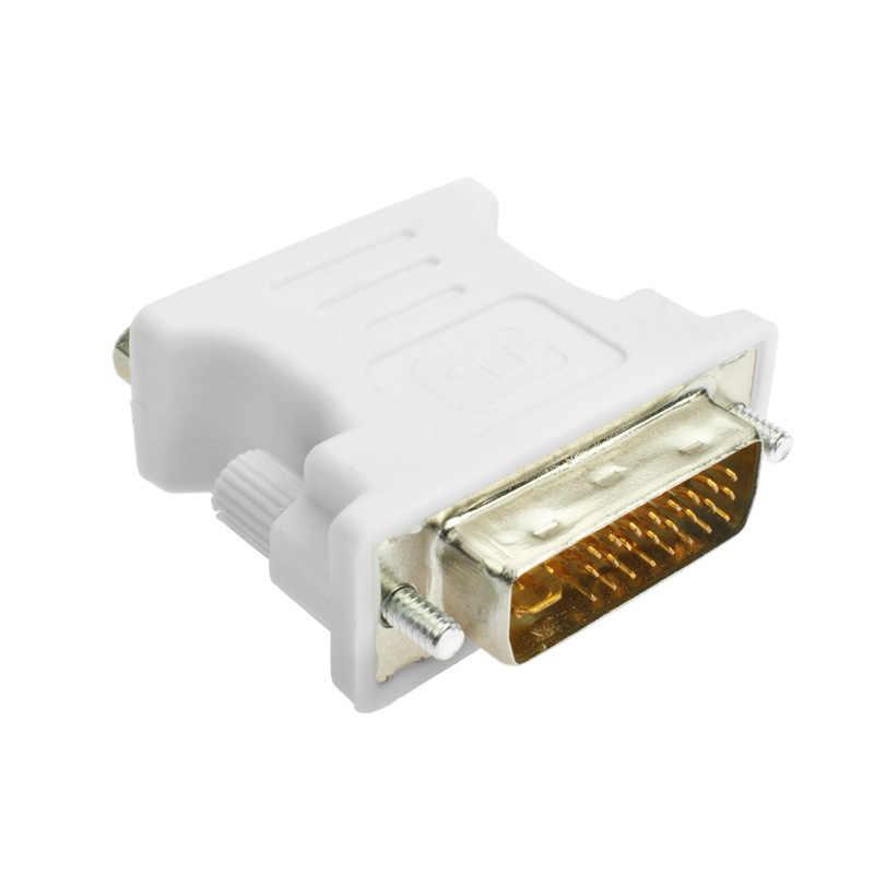 Amkle DVI لمحول VGA محول DVI 24 + 5 دبوس ذكر إلى VGA أنثى 1080P محول الفيديو ل HDTV الكمبيوتر الكمبيوتر المحمول العارض