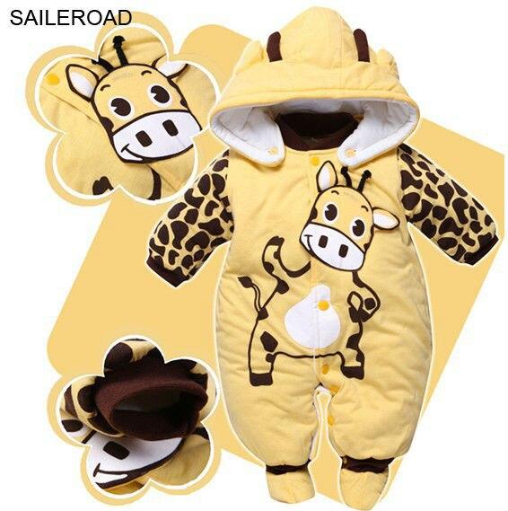 fb656451808 Saileroad invierno animales vaca bebé mariquita Niños Niñas Mamelucos bebé  Niños romper ropa para bebés recién