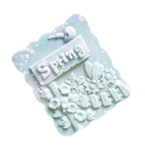 Spring Flushing Flower Growing Butterfly flying Silicone Carving Mold Hand Made Craft Bath Soap Making