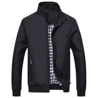 2018 Spring Men S Zipper Thin Jacket Coat Stand Collar Business Casual Jacket